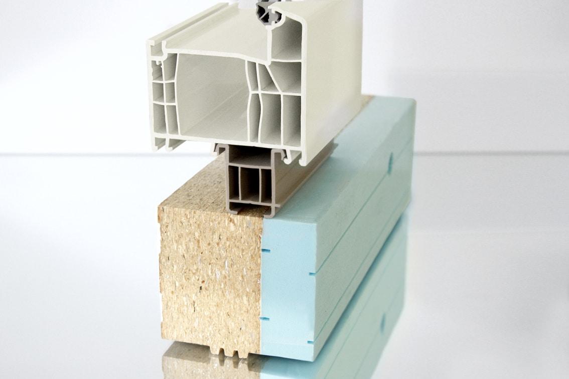 Vorwandmontagezarge mit herkömmlichem Fensterbankanschlussprofil PVC