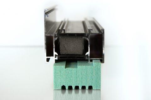 Fensterbankanschlußprofil aus PET Platte Kerdyn Green FR